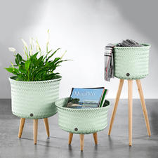 Basket With Legs - For plants, magazines, accessories, throws, ... These new baskets have many uses.