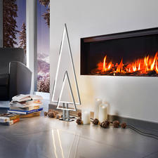 LED Indoor Light Tree - Trendy light attraction. Clean, tasteful aluminium design.