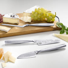 Boska Cheese Knife Monaco+, Set of 3 - In 3 perfect shapes for soft, semi-hard and hard cheese.