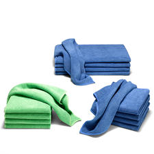 Ultra-fine Microfibre Cloths, Set of 5 - Perfect cleaning, kitchen and bath cloths.