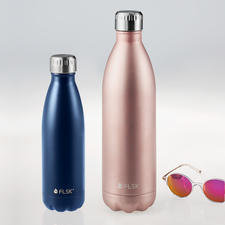 Insulated Bottle, 0.5 l, Midnight Blue and 1 l, Rose Gold