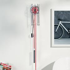 "Designer Wall-Mounted Pendulum Clock ""Wheel"" - The beauty of pure mechanics."