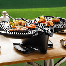 Portable Gas Grill NomadiQ - Ready to grill in one minute. Without open flames. Without charcoal.