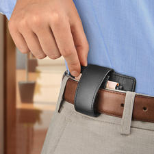 Comfortable to carry on the belt thanks to integrated belt loop.