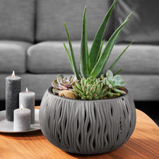 "Planter ""Sand Waves"" - Considerably lighter and more durable. Made of sturdy, recyclable polypropylene."