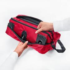 Your XXL bag rolls up small to save space.
