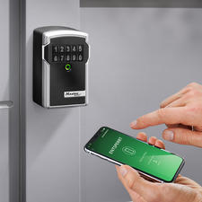 Electronic Key Safe - The key safe 2.0. Solid, weatherproof, and controllable via an app.