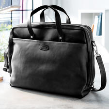 Oconi Multiway Business Bag - Probably your most versatile business bag. Made of chic cowhide leather. By Oconi.