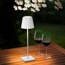 Design Battery Table Lamp - Beautiful, simple, with a delicate design. For indoors and outdoors.