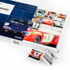 When reversed, the 24 boxes form a new Porsche motif.