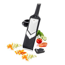 Compact V-grater - All the advantages of a classic V-grater – yet can be stored in the smallest of spaces.