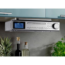 Kitchen Music Centre Elite Line - Plays FM and digital radio, CD and MP3 music. With Bluetooth connectivity, USB playback and audio jack connector.