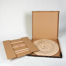 "After use, store in the space-saving 5cm (2"") flat cardboard box."
