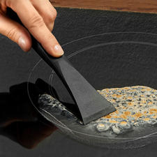 Scratch-free Stove Scraper - Powerful and much gentler on the surface. 100% hygienic and safe to handle.