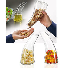 Snack Dispenser/Carafe - The nicer (and more appetizing) way to serve snacks.