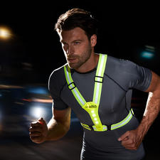 LED Safety Vest - Ideal for cycling, jogging, hiking, going for a walk, on the way to school, etc. in the dark.