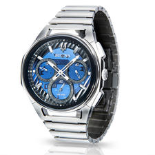 Bulova Curv Watch - Attractively comfortable. Sleek, elegant stainless steel design, suitable for any wardrobe.