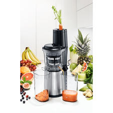 Caso Slow Juicer SJW 500 - Ultra-compact slow juicer with extra-large filling opening for whole fruits.