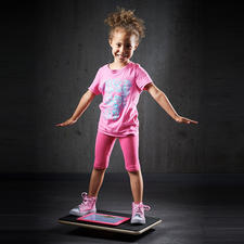 The playful element also inspires children to do sporty activities.