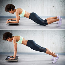 Try the many different variations of the plank exercise– from easy to advanced.