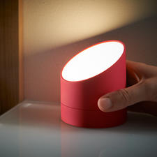 Simply turn it upside down and the alarm clock becomes a practical, dimmable light.