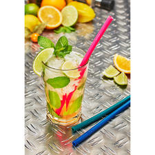 Silicone Drinking Straws, Set of 3 - Unbreakable, flexible, reusable.
