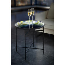 LED Reflection Table - Magical sea of lights - table with a ring of LED lights and an infinity mirror.