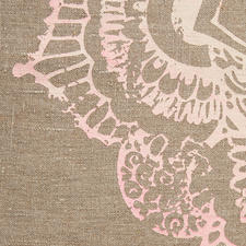 Purely handcrafted ornamental print with fine colour gradation.