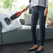 Supplied with DeepClean electric suction brush for thorough cleaning of upholstery.