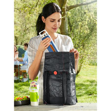 2-in-1 Lunch Bag - Stylish exterior. Insulated interior. Perfect for carrying groceries and lunch.