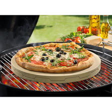Double Pizza Stone - Bakes stone-oven pizza evenly heated and delicately crispy like no other, with juicy toppings.
