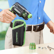 3-in-1 Cordless Drill Driver - Instead of centre punches, drills and cordless screwdrivers just one condensed universal tool.