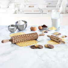 3D Motif Rolling Pin, normal size or junior size - Magically decorated biscuits and cakes – faster and easier than ever before.