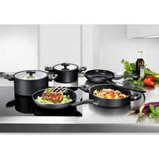 Berndes AluRecycled Cookware - High-class cookware – 100% recycled material. With innovative quartz non-stick coating. For all types of hobs including induction.