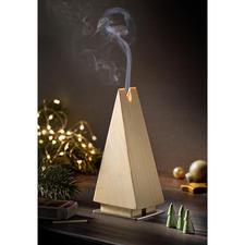 Incense Burner Fir Tree - Incense burner in the shape of a fir tree made of spruce wood: The most beautiful Christmas tradition in a clean-cut shape.