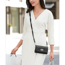 ...or worn nonchalantly on the shoulder in a classy cross-body style.