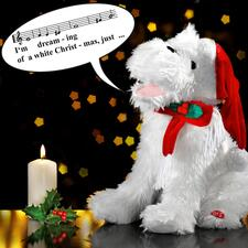 Singing Christmas Dog - This enchanting Christmas dog will capture every heart with its song.