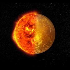 Sun or Planets from Gemstones on Aluminium Base