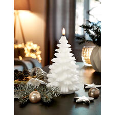 UYUNI Lighting Fir Tree LED Candle - Magnificently three-dimensional made from real wax. With a particularly realistic flickering flame.