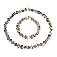Murano Beaded Necklace or Bracelet - Venetian splendour: Shimmering gold and silver, embedded in luxurious Murano glass beads.