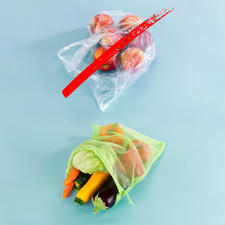 Reusable fresh net – instead of disposable plastic bag.