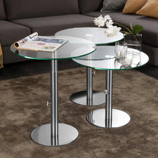 Glass Side Table - The perfect side table: Elegant design for any occasion or decorating style.