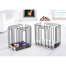 Newspaper or Magazine Rack - Fancy design holds all issues: Space saving, organised, accessible. Now also in black.