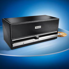 CD/DVD Organiser - Store your CDs in style: The selected CD at the touch of a button. Holds 100 CDs.