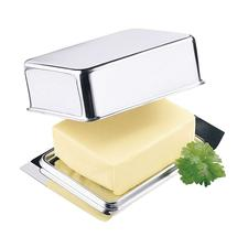 Stainless Steel Butter Dish - The stainless steel butter dish fits exactly into your fridge's butter compartment.