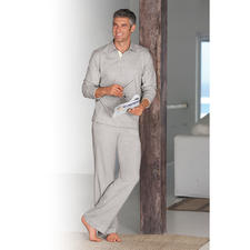 Loungewear Suit, mottled-grey - The stylish loungewear suit made of soft cotton jersey. Sophisticated, sporty and very comfortable.
