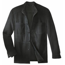 Reindeer Calf Leather Jacket - A solid leather jacket – as light as a shirt.