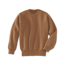 Camel Hair Pullover - The luxury of a genuine camel hair pullover.