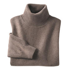 Polo Neck Pullover, Taupe