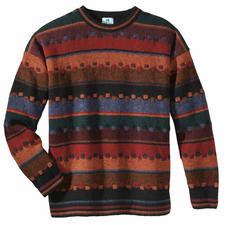 """Irish Autumn"" Pullover - Fine, handcrafted jacquard design made from strong, pure virgin wool."